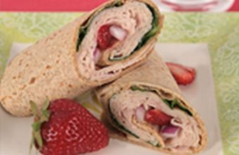 strawberry turkey wrap