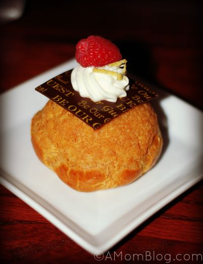 Lemon - Raspberry Cream Puff filled with Lemon Custard *Gluten-free and No Sugar Added