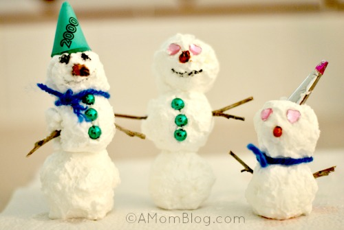 snowmen from soap