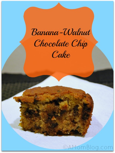 banana walnut chocolate chip cake