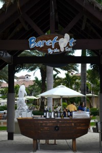 barefoot by the sea at beaches resorts