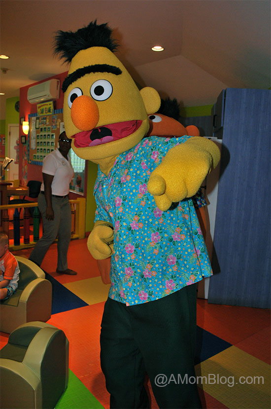 bert and ernie joining in on the fun at camp sesame