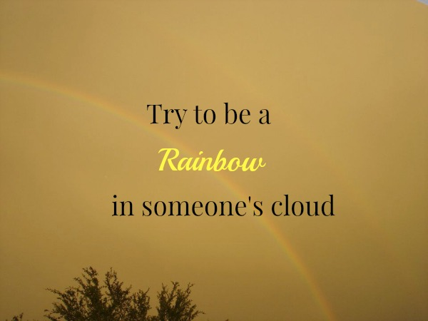 rainbow in someones cloud