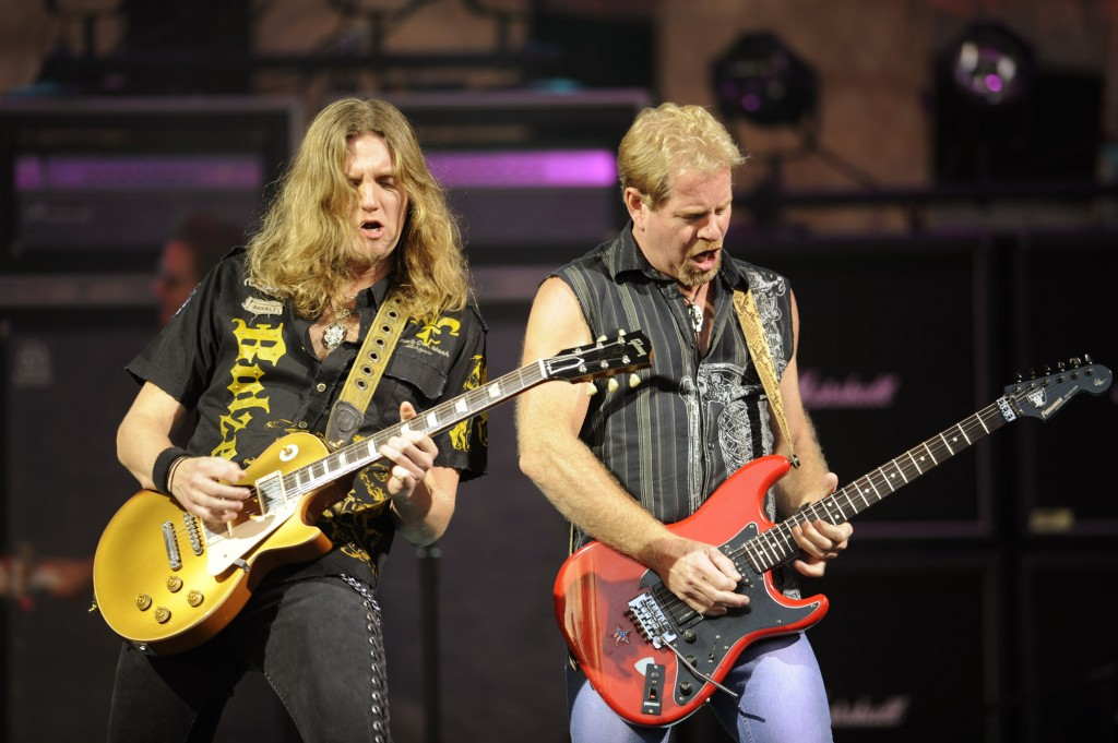 """Night Ranger (""""Sister Christian"""") performs May 20-22, 2016 at America Gardens Theatre during the 23rd Epcot International Flower & Garden Festival """"Garden Rocks"""" Concert Series. Thirteen pop bands with hits spanning several decades are featured throughout the 90-day festival with Friday, Saturday and Sunday performances included in Epcot admission. Epcot is located at Walt Disney World Resort in Lake Buena Vista, Fla. (Kent Phillips, photographer)"""