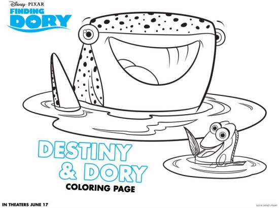 FINDING DORY Free Coloring Sheets A Mom Blog