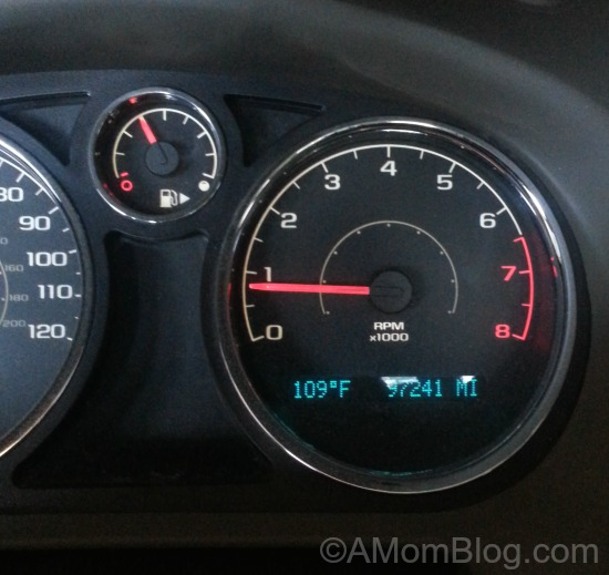 dashboard temp