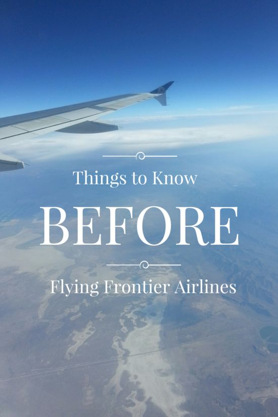tips for traveling frontier airlines