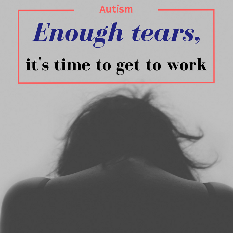 no more tears, time for work