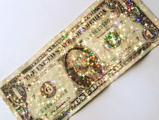 sparkly fairy money