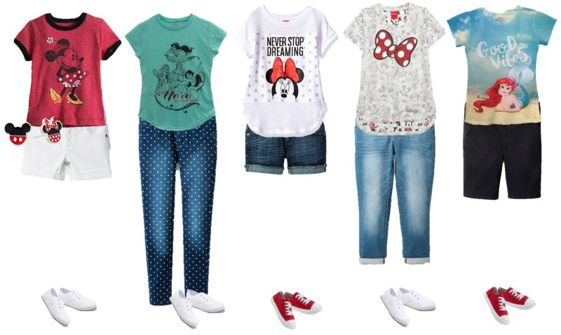 mix & match disney styles for girls