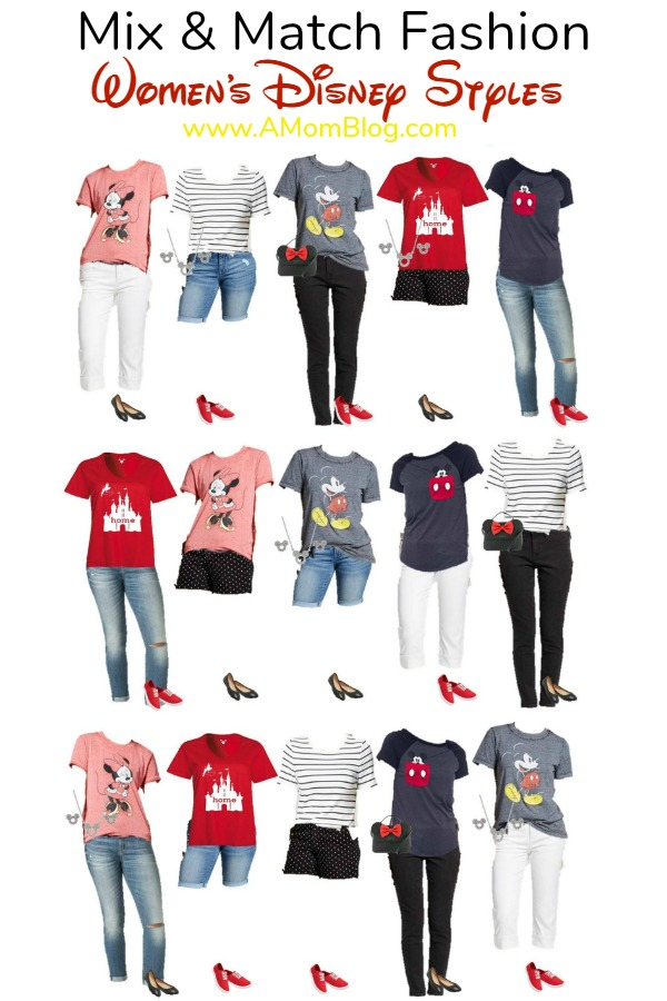 fashion: mix and match disney women's styles